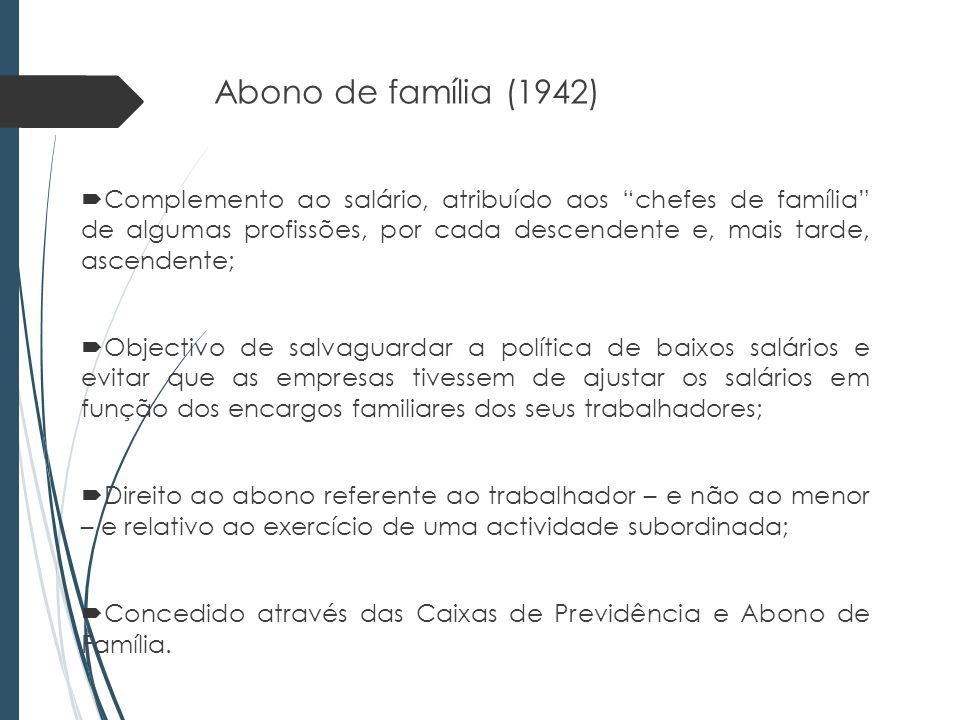 Abono de família (1942)
