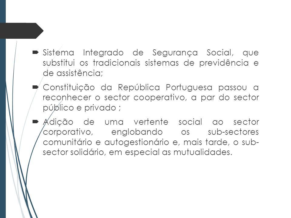 Sistema Integrado de Segurança Social, que substitui os tradicionais sistemas de previdência e de assistência;
