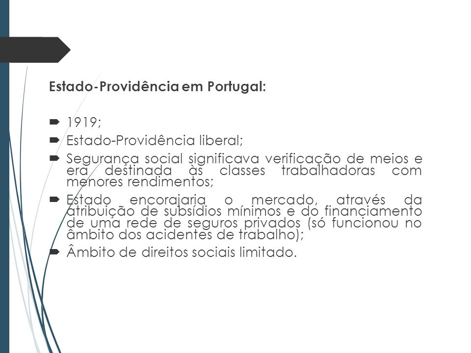 Estado-Providência em Portugal: