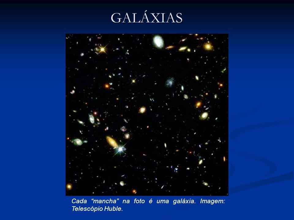 GALÁXIAS Cada mancha na foto é uma galáxia. Imagem: Telescópio Huble.