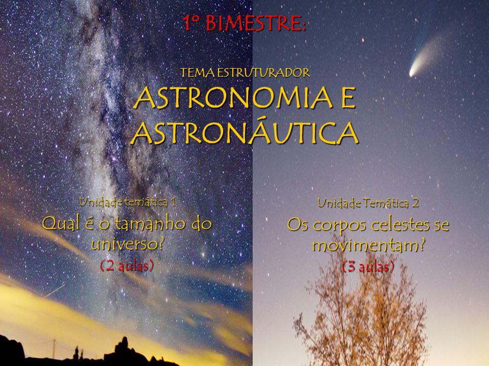 1º BIMESTRE: TEMA ESTRUTURADOR ASTRONOMIA E ASTRONÁUTICA