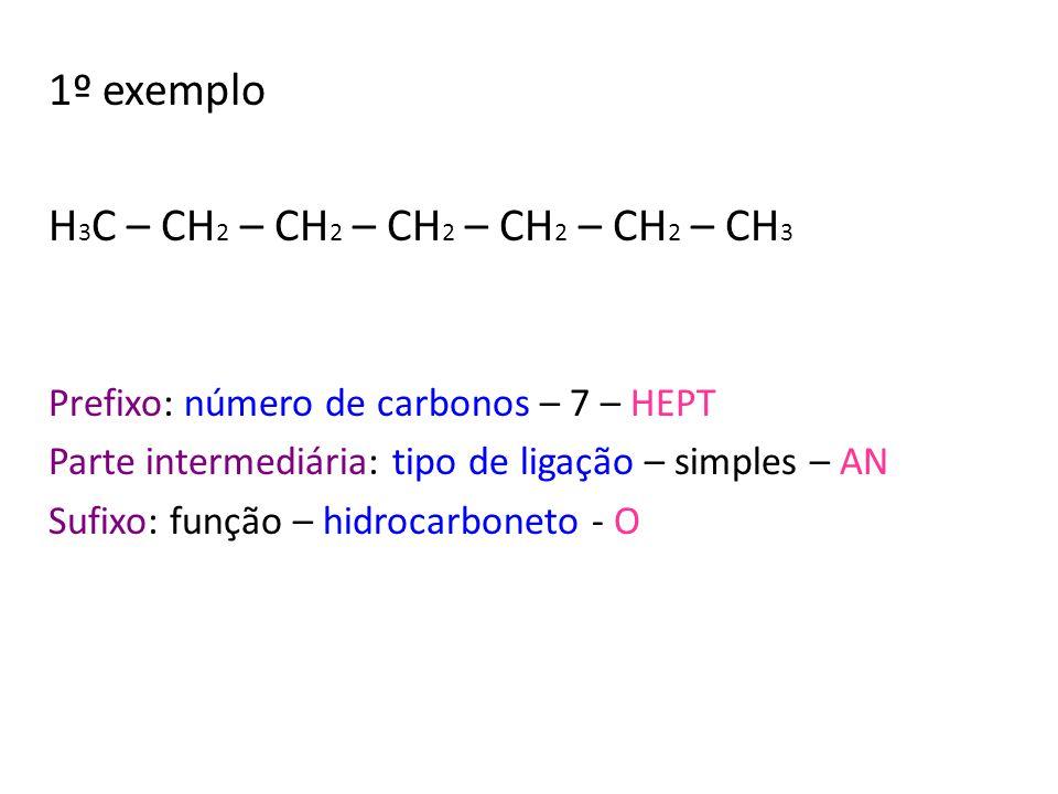 H3C – CH2 – CH2 – CH2 – CH2 – CH2 – CH3