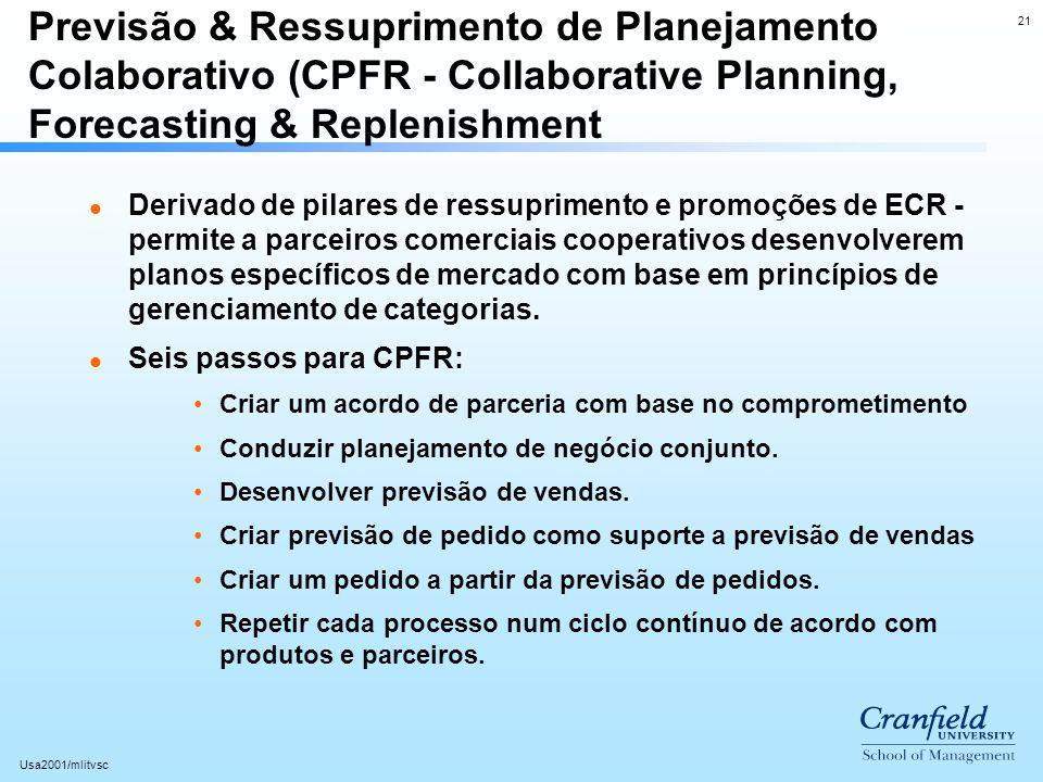 Previsão & Ressuprimento de Planejamento Colaborativo (CPFR - Collaborative Planning, Forecasting & Replenishment