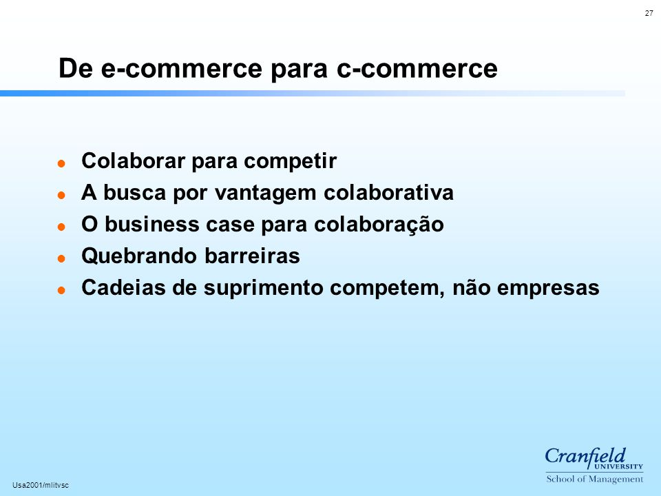De e-commerce para c-commerce