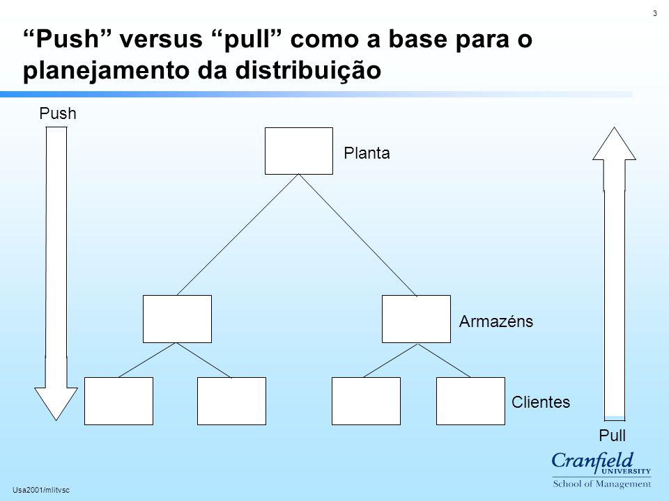 Push versus pull como a base para o planejamento da distribuição