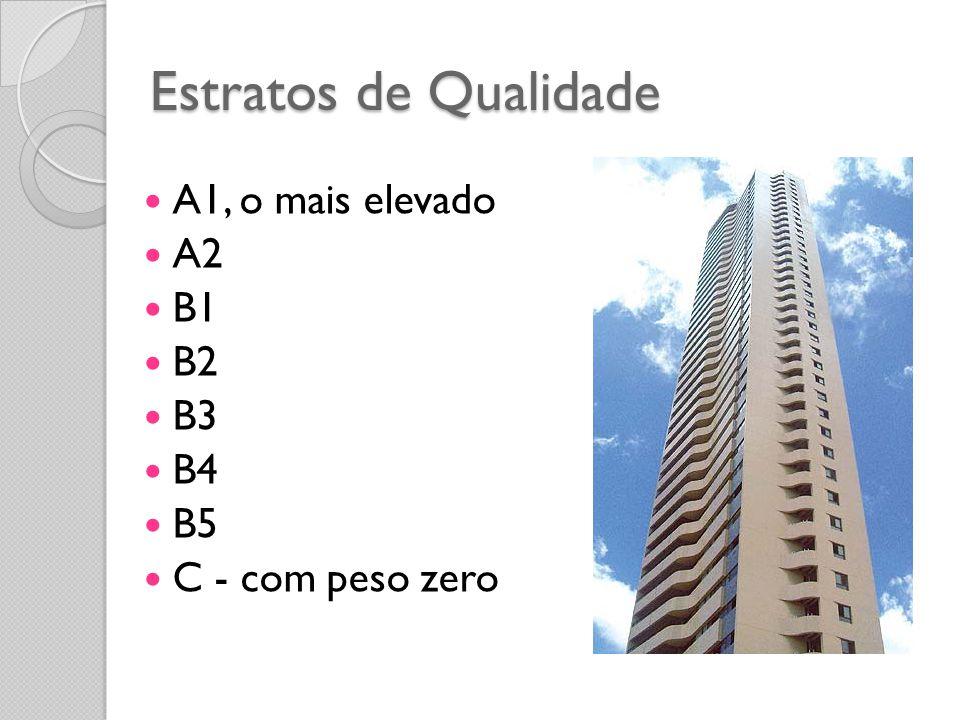 Estratos de Qualidade A1, o mais elevado A2 B1 B2 B3 B4 B5
