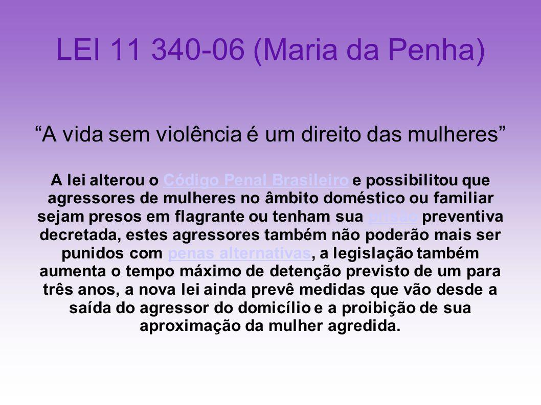 A vida sem violência é um direito das mulheres