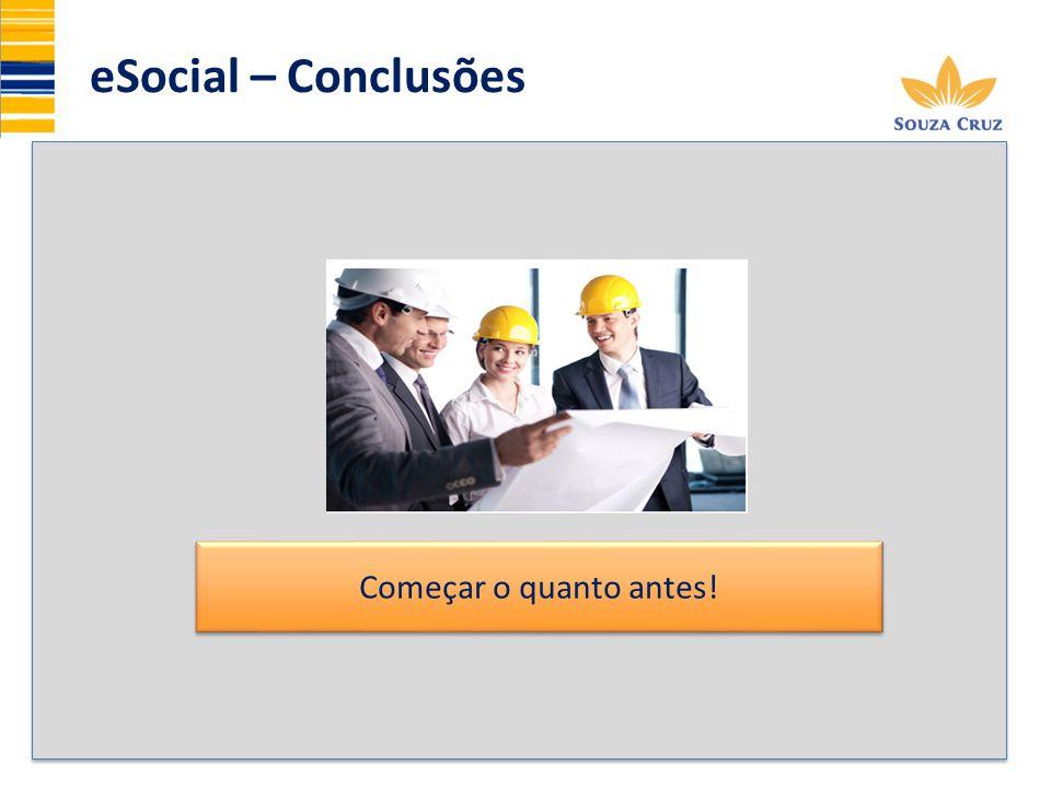 eSocial – Conclusões Começar o quanto antes! 19