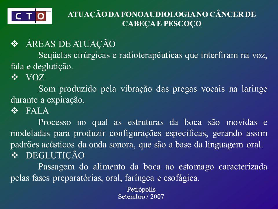 ATUAÇÃO DA FONOAUDIOLOGIA NO CÂNCER DE CABEÇA E PESCOÇO
