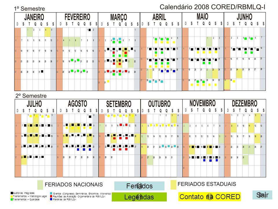Feriados Sair Legendas Contato na CORED Auditorias Integradas