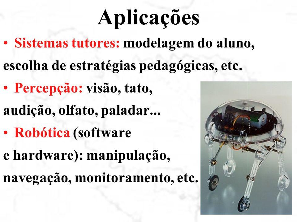 Aplicações Sistemas tutores: modelagem do aluno,
