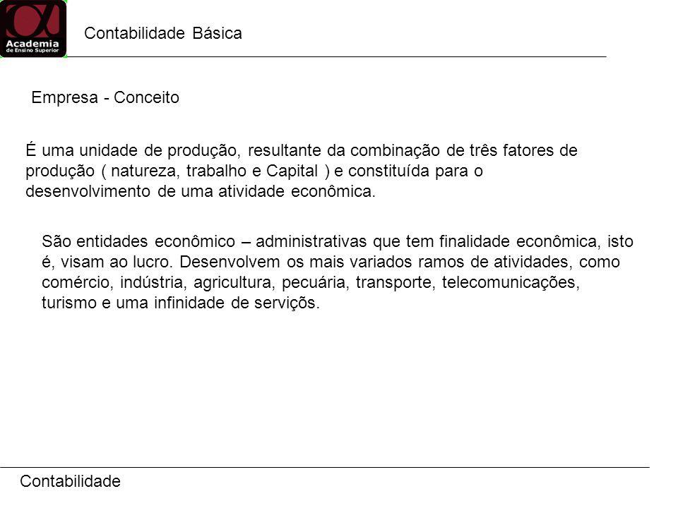 Contabilidade Básica Empresa - Conceito.