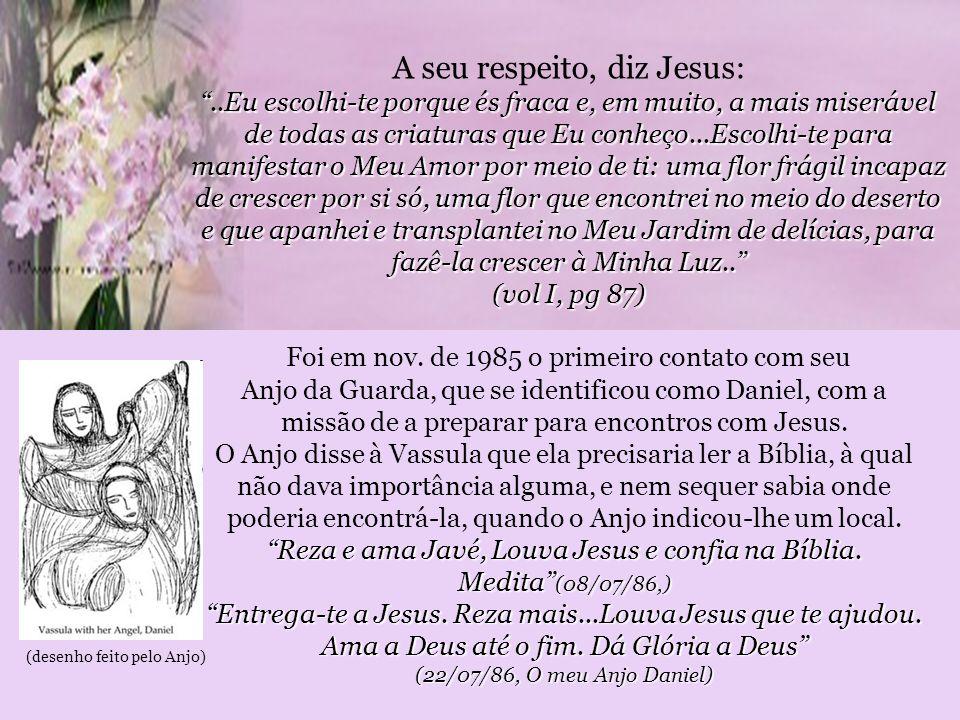 A seu respeito, diz Jesus: