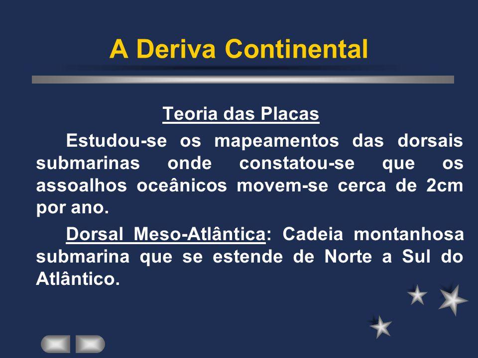 A Deriva Continental Teoria das Placas