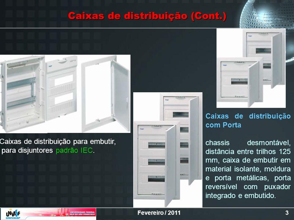 Caixas de distribuição (Cont.)