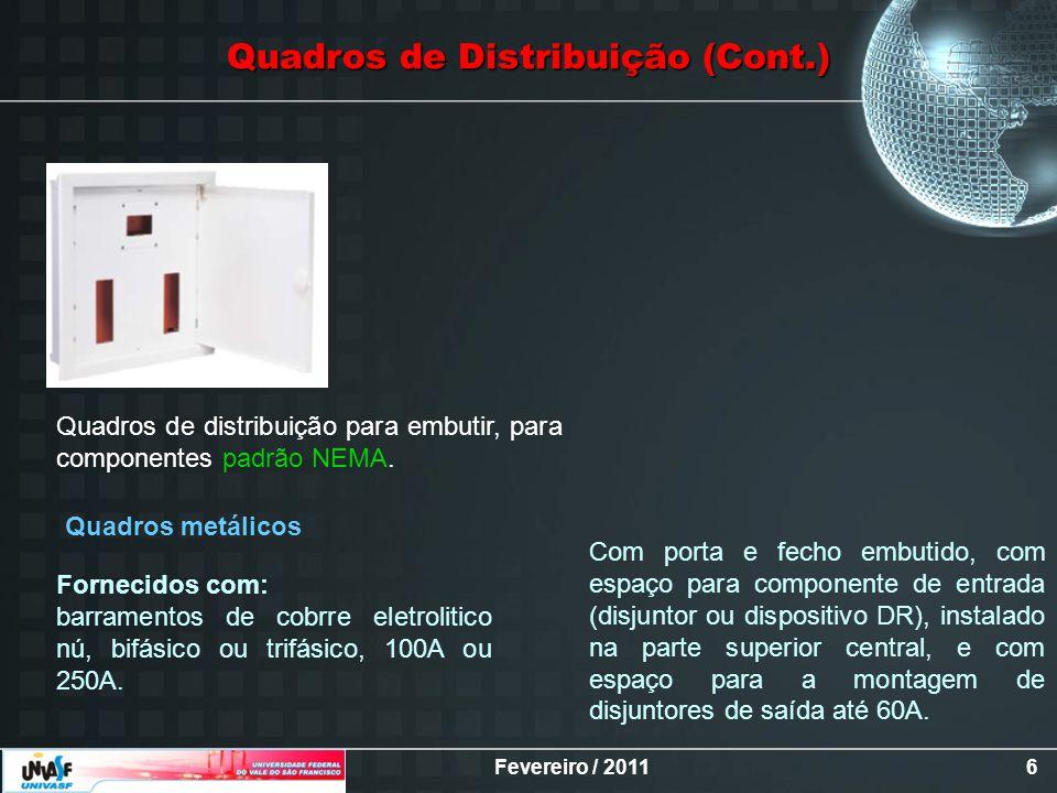 Quadros de Distribuição (Cont.)