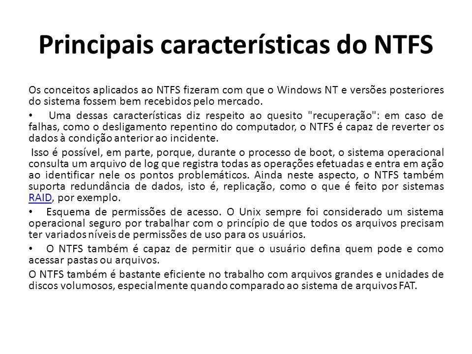 Principais características do NTFS