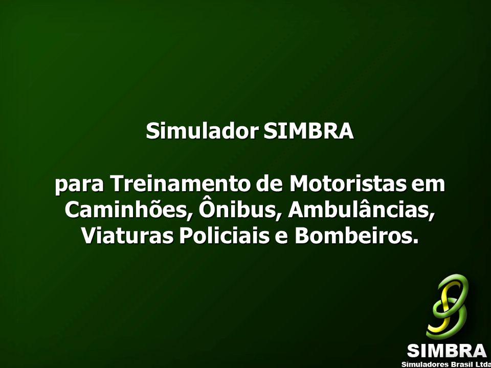 Simulador SIMBRA para Treinamento de Motoristas em Caminhões, Ônibus, Ambulâncias, Viaturas Policiais e Bombeiros.