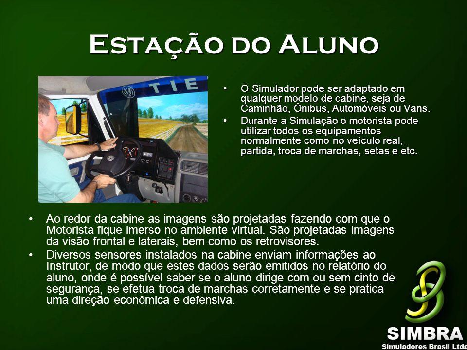 Estação do Aluno O Simulador pode ser adaptado em qualquer modelo de cabine, seja de Caminhão, Ônibus, Automóveis ou Vans.
