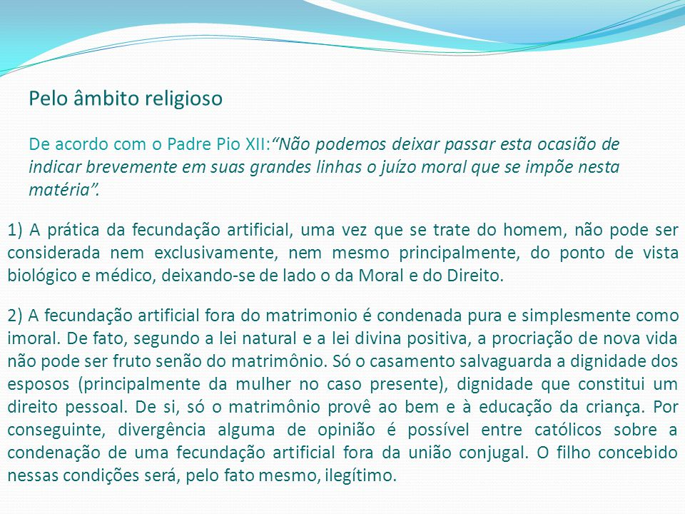 Pelo âmbito religioso
