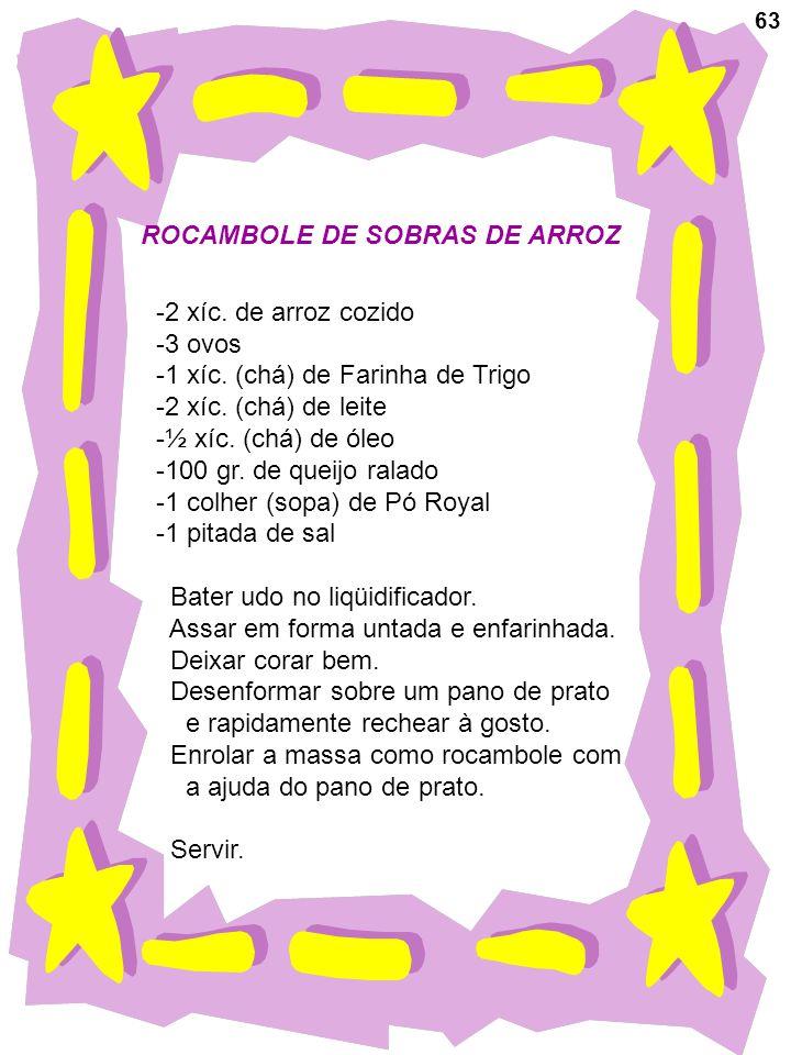 ROCAMBOLE DE SOBRAS DE ARROZ