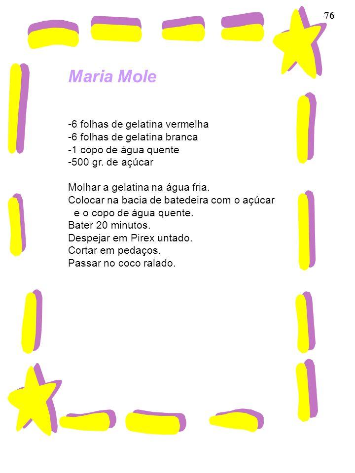 Maria Mole 76 -6 folhas de gelatina vermelha