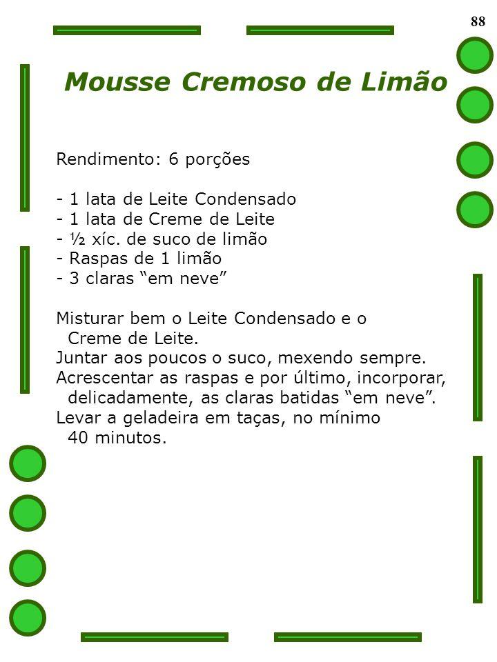 Mousse Cremoso de Limão