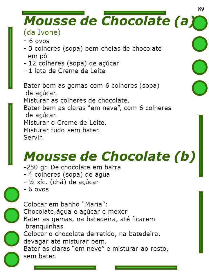 Mousse de Chocolate (a)