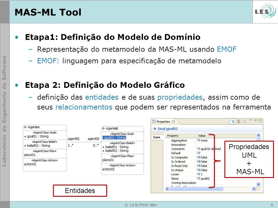 MAS-ML Tool Etapa1: Definição do Modelo de Domínio