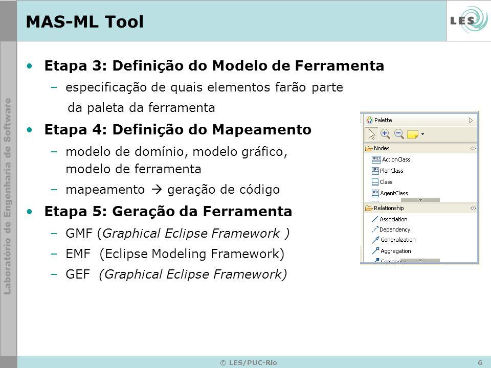 MAS-ML Tool Etapa 3: Definição do Modelo de Ferramenta
