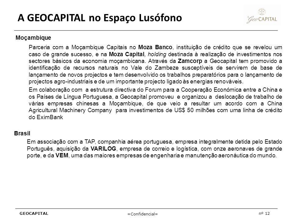 A GEOCAPITAL no Espaço Lusófono