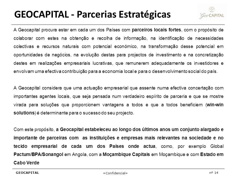 GEOCAPITAL - Parcerias Estratégicas