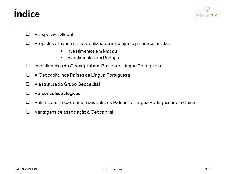 Índice Perspectiva Global