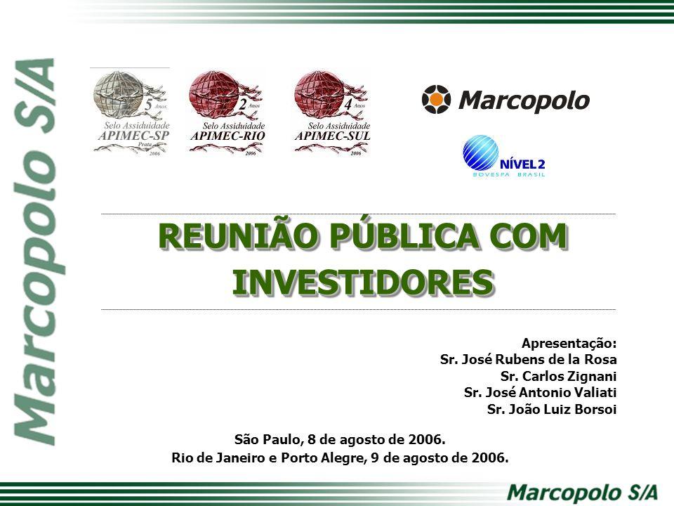 REUNIÃO PÚBLICA COM INVESTIDORES