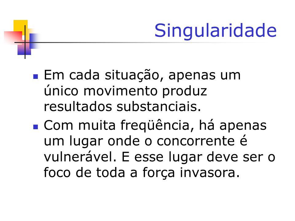 Singularidade Em cada situação, apenas um único movimento produz resultados substanciais.