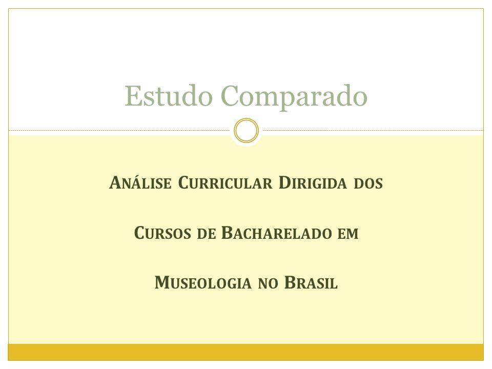 Análise Curricular Dirigida dos Cursos de Bacharelado em