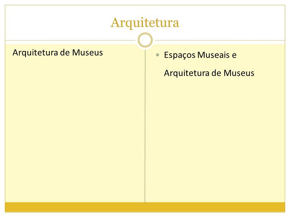 Arquitetura Arquitetura de Museus