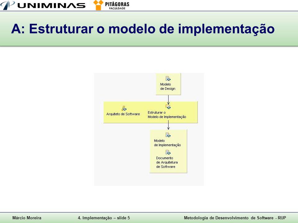 A: Estruturar o modelo de implementação