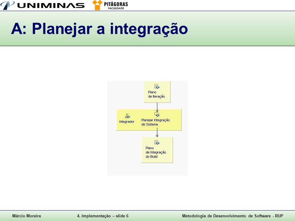 A: Planejar a integração