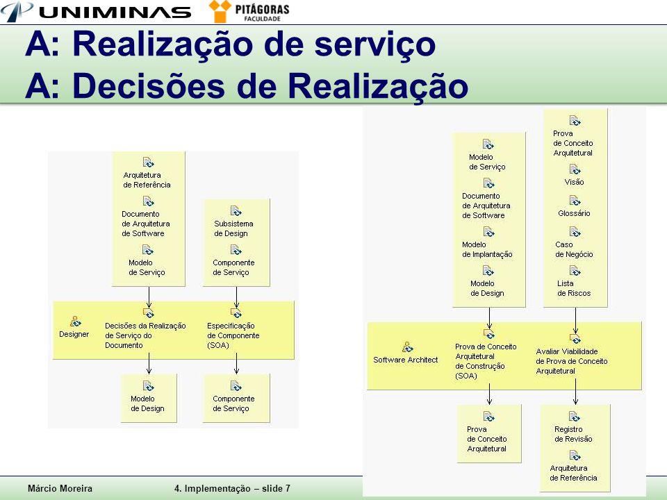 A: Realização de serviço A: Decisões de Realização