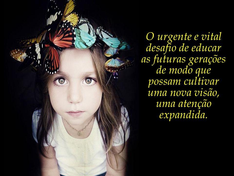 O urgente e vital desafio de educar as futuras gerações de modo que possam cultivar uma nova visão, uma atenção expandida.