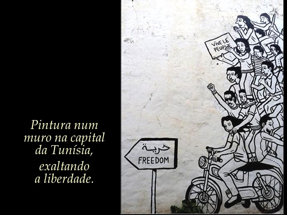Pintura num muro na capital
