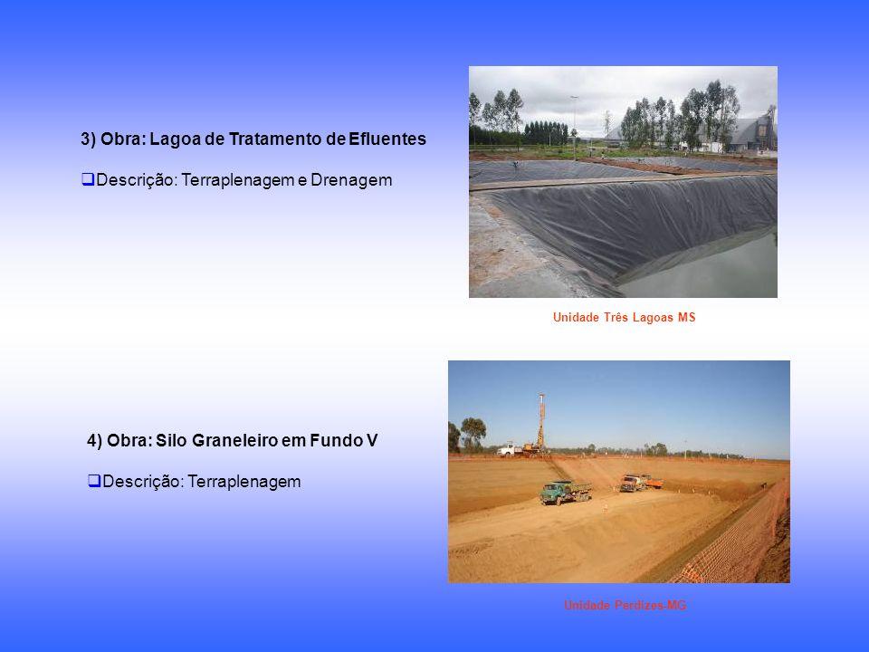 3) Obra: Lagoa de Tratamento de Efluentes