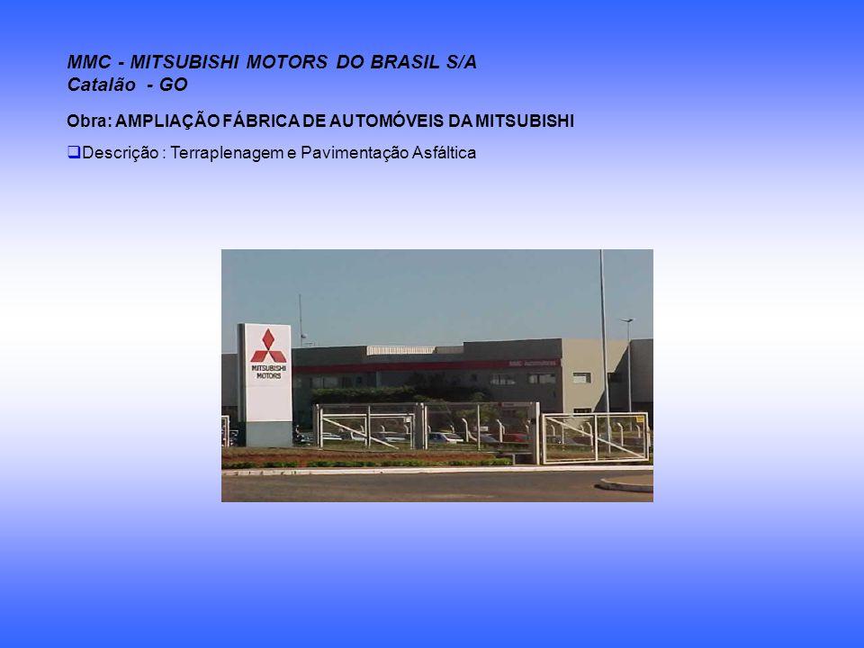 MMC - MITSUBISHI MOTORS DO BRASIL S/A Catalão - GO