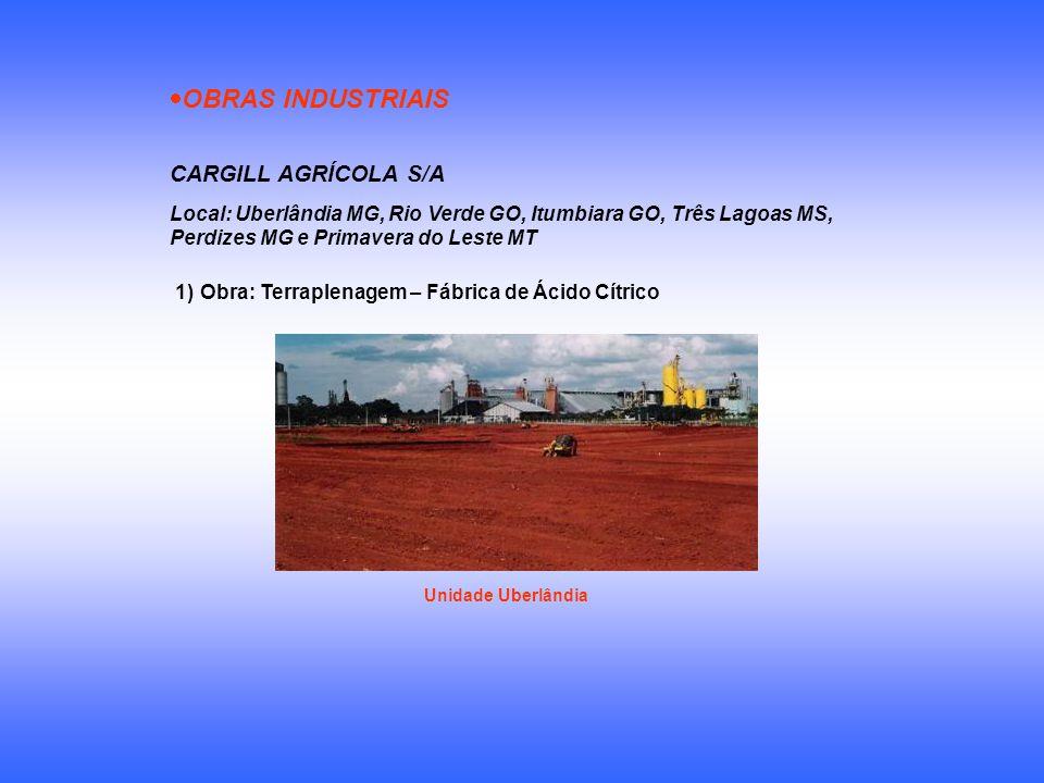 OBRAS INDUSTRIAIS CARGILL AGRÍCOLA S/A