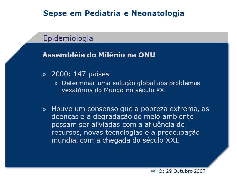 Epidemiologia Assembléia do Milênio na ONU 2000: 147 países