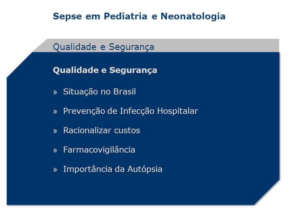 Qualidade e Segurança Qualidade e Segurança Situação no Brasil