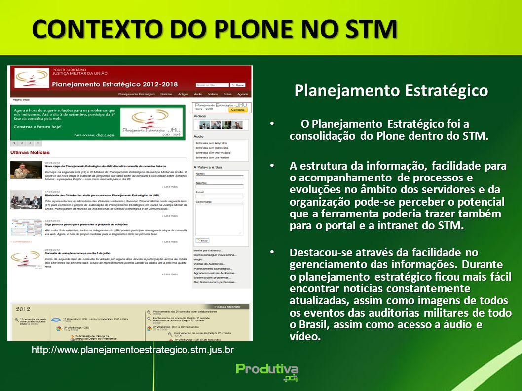 CONTEXTO DO PLONE NO STM