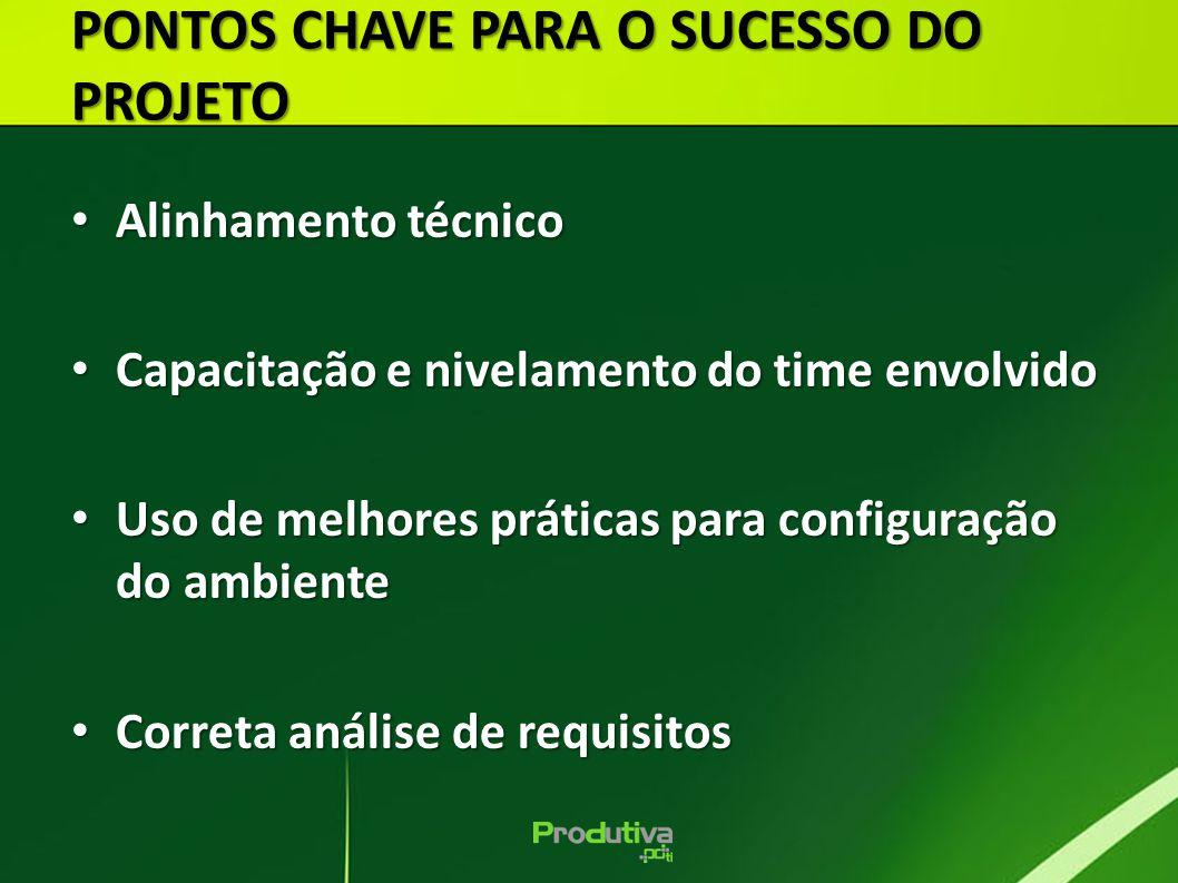 PONTOS CHAVE PARA O SUCESSO DO PROJETO
