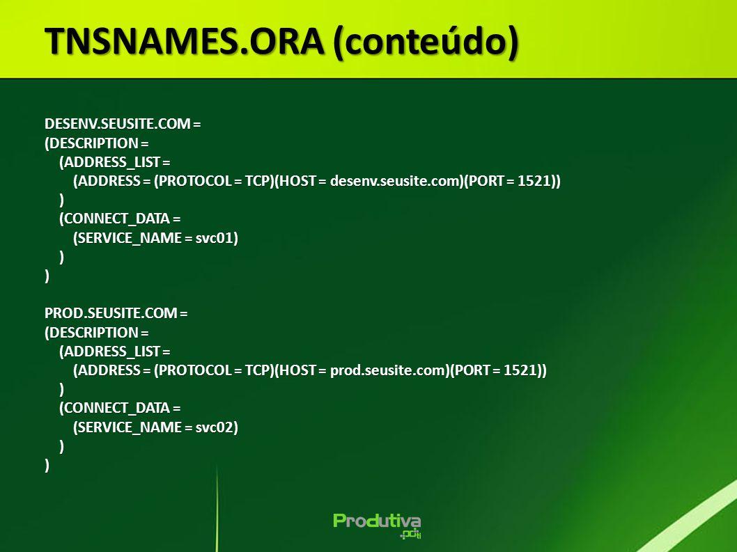 TNSNAMES.ORA (conteúdo)